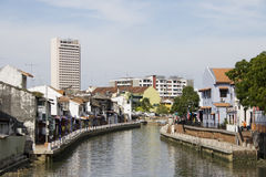 Melaka River. A view on a river in Melaka City Stock Photo