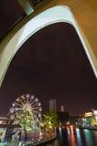 Melaka river in the night Royalty Free Stock Images