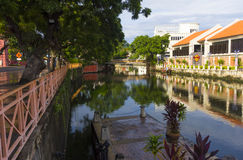 Melaka riverside esplanade Stock Photo