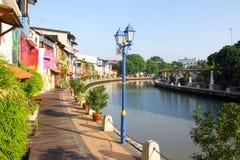 Melaka riverside esplanade. The riverside esplanade of Melaka town, Malaysia Stock Photo
