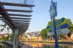 Melaka riverside walk Stock Photo