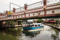 Melaka stad Arkivbild