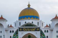 Melaka Straits Mosque Stock Photos