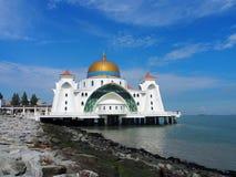 Melaka svårighetermoské Royaltyfria Foton