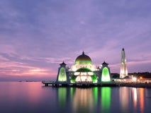 Melaka svårighetermoské arkivfoto
