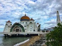 Melaka van Masjid selat stock afbeelding