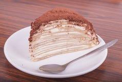 Melaleuca蛋糕味道,巧克力蛋糕,可口地 免版税库存照片