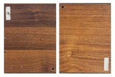 Melamine floor wooded plank sample Stock Images