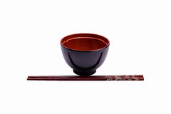 Melamine puchar i drewniany chopstick Obraz Stock