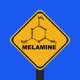 Melamine warning sign Royalty Free Stock Photo