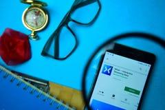 Melanżer - Interaktywny Leje się Beta dev app z powiększać na Smartphone ekranie obrazy royalty free
