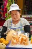 Melan fruit vendor Stock Image