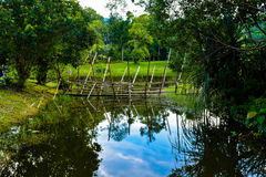 Melanau Tribe Bamboo Bridge Stock Photography