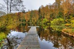 Melancholic autumn scenery Royalty Free Stock Images