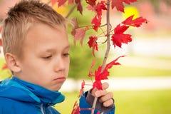 Melancholic Boy Stock Images
