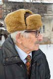 Melancholic elderly man Royalty Free Stock Photo