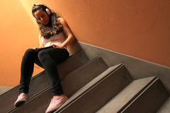 Melancholic Stairway Stock Images