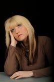 Melancholic Woman Stock Images