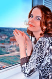 melancholiczna kobieta Zdjęcia Stock