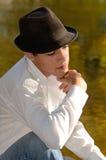 Melancholiczny Latynoski Mężczyzna zdjęcie royalty free