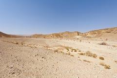 Melancholie und Leere der Wüste in Israel Lizenzfreie Stockfotografie