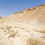 Melancholie und Leere der Wüste in Israel lizenzfreies stockfoto