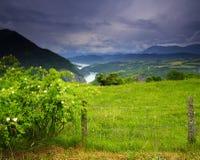 Melancholisch groen landschap, Frankrijk royalty-vrije stock foto's