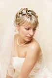 Melancholische bruid Royalty-vrije Stock Fotografie