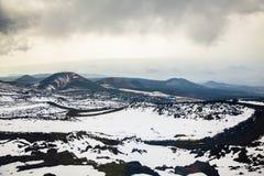 Melancholische mening van Etna, Sicilië Royalty-vrije Stock Fotografie