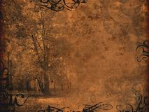 Melancholy autumnal background Stock Photography
