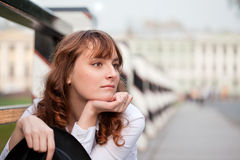 Melancholy beauty Stock Images