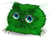 Melancholy green monster Stock Images