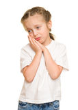 Melancholy little girl portrait Royalty Free Stock Photography