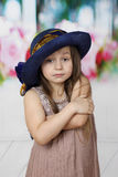Melancholy little girl Stock Photo