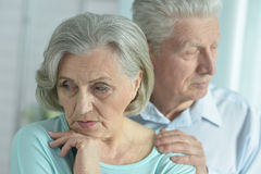 Melancholy Senior couple Royalty Free Stock Photo