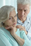 Melancholy Senior couple Royalty Free Stock Images