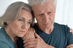 Melancholy Senior couple Royalty Free Stock Photography