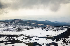 Melancholy view from Etna, Sicily Royalty Free Stock Photography