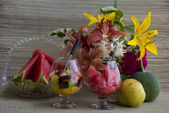 Melancia e fruta Imagens de Stock Royalty Free