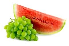 Melancia e uvas Foto de Stock