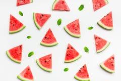 A melancia fresca corta o teste padrão fotografia de stock royalty free