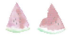 Melancia isolada Ilustração do pixel Fotografia de Stock Royalty Free