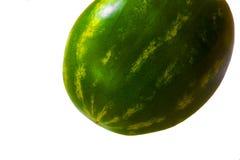 Melancia isolada no fundo branco fruto fresco da melancia Fotos de Stock Royalty Free