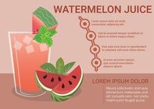 Melancia Juice Infographic ilustração royalty free