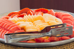 Melancia misturada do fruto, abacaxi fotografia de stock royalty free