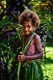 Melanesian flicka arkivfoto