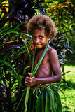 Melanesian girl Stock Photo