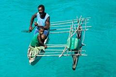 Melanesian inwoners van Papoea-Nieuw-Guinea Stock Foto's