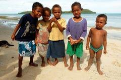 Melanesian inwoners van Papoea-Nieuw-Guinea Royalty-vrije Stock Afbeeldingen