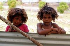 Melanesian inwoners van Papoea-Nieuw-Guinea Stock Afbeeldingen